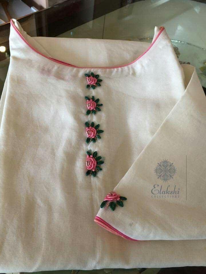 hand embroidery designs for salwar  kameez neck