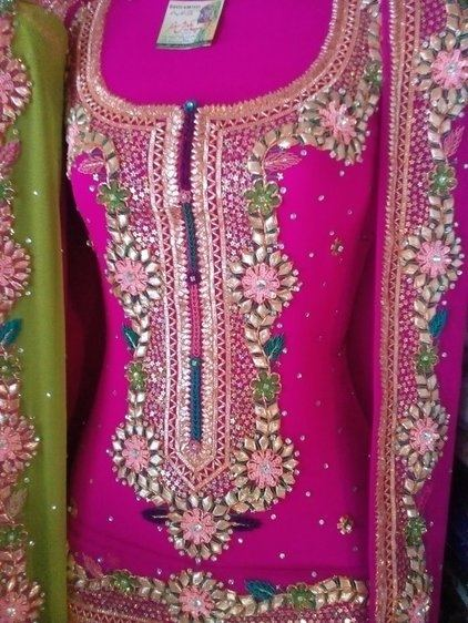 Hand Embroidery Applique Work /Applique Work Summer Dress Designs 2018  | by The Beauty Writer