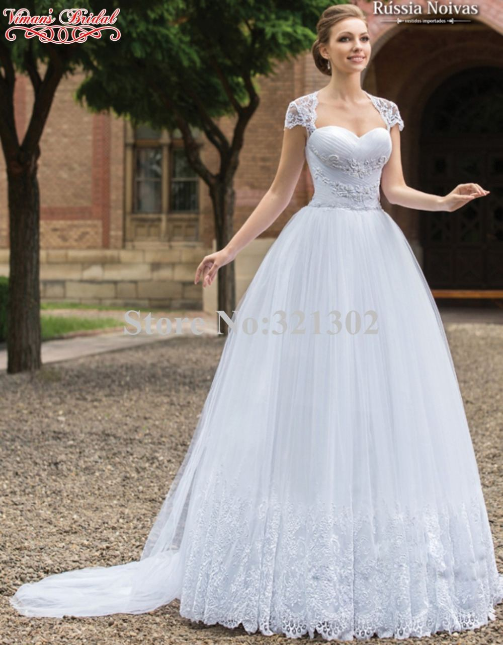 Discount Vintage Modest A Line Wedding Dresses 2018 Sweetheart Cap Sleeves Lace Appliques Satin Buttons Back Sweep Train Simple Bridal Gowns Vestidos Bridal