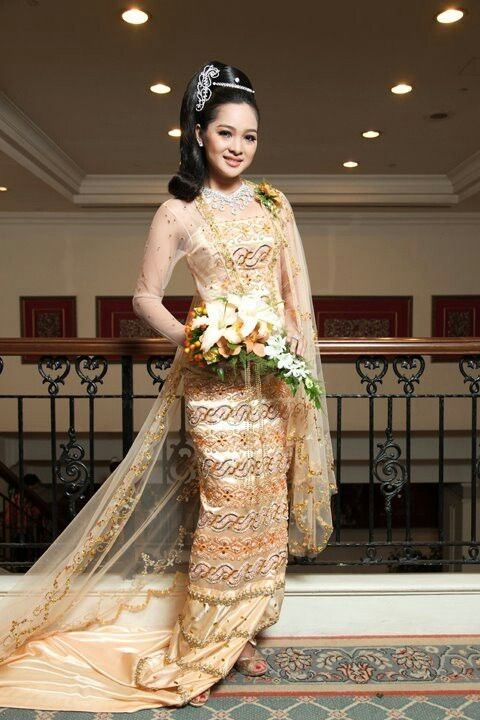 Myanmar Traditional Wedding Gowns