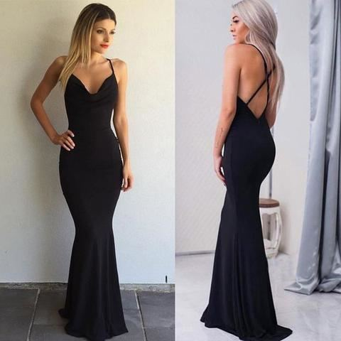 Portia & Scarlett Black Square Neck Maxi Dress