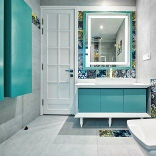 teal and gray bathroom ideas