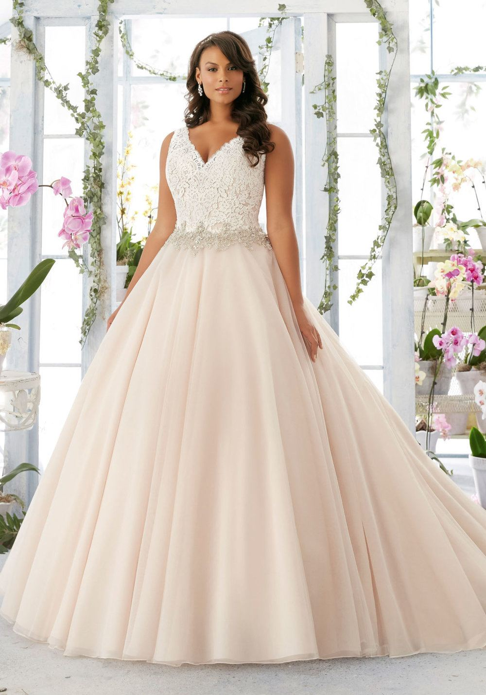 Whether you are looking for something fitted and sexy or a romantic  ballgown, we have something for every bride, regardless of her size