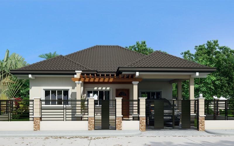 Garage is optional in this small house design and can be added according to owners preference
