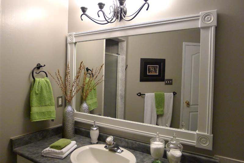 double vanity mirror vanities ideas mirrors for bathroom bath white framed