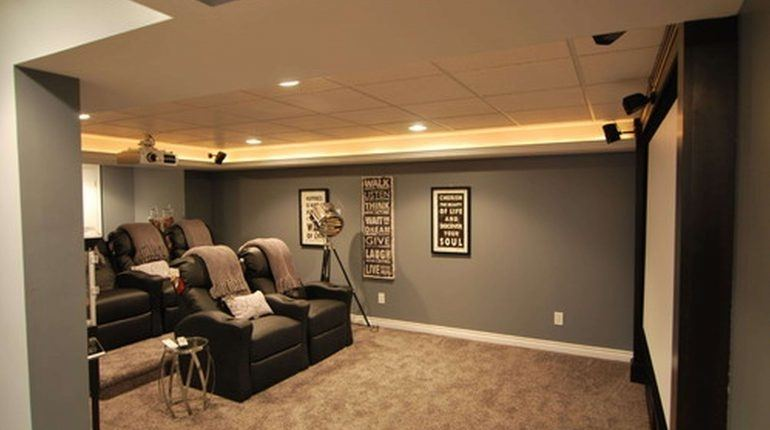 Modern basement decor ideas living room design small large size of family  with decorating likable