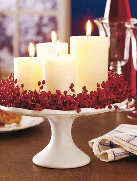 Simple mason jar Christmas decorations