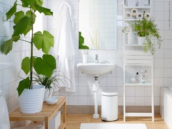 Be creative and find ways to bring nature into the bathroom