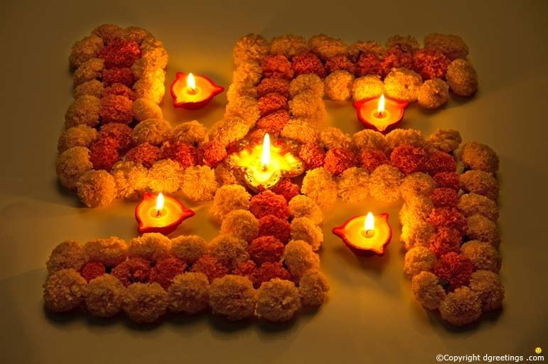 Add floating candles for the Diwali flavour  or use