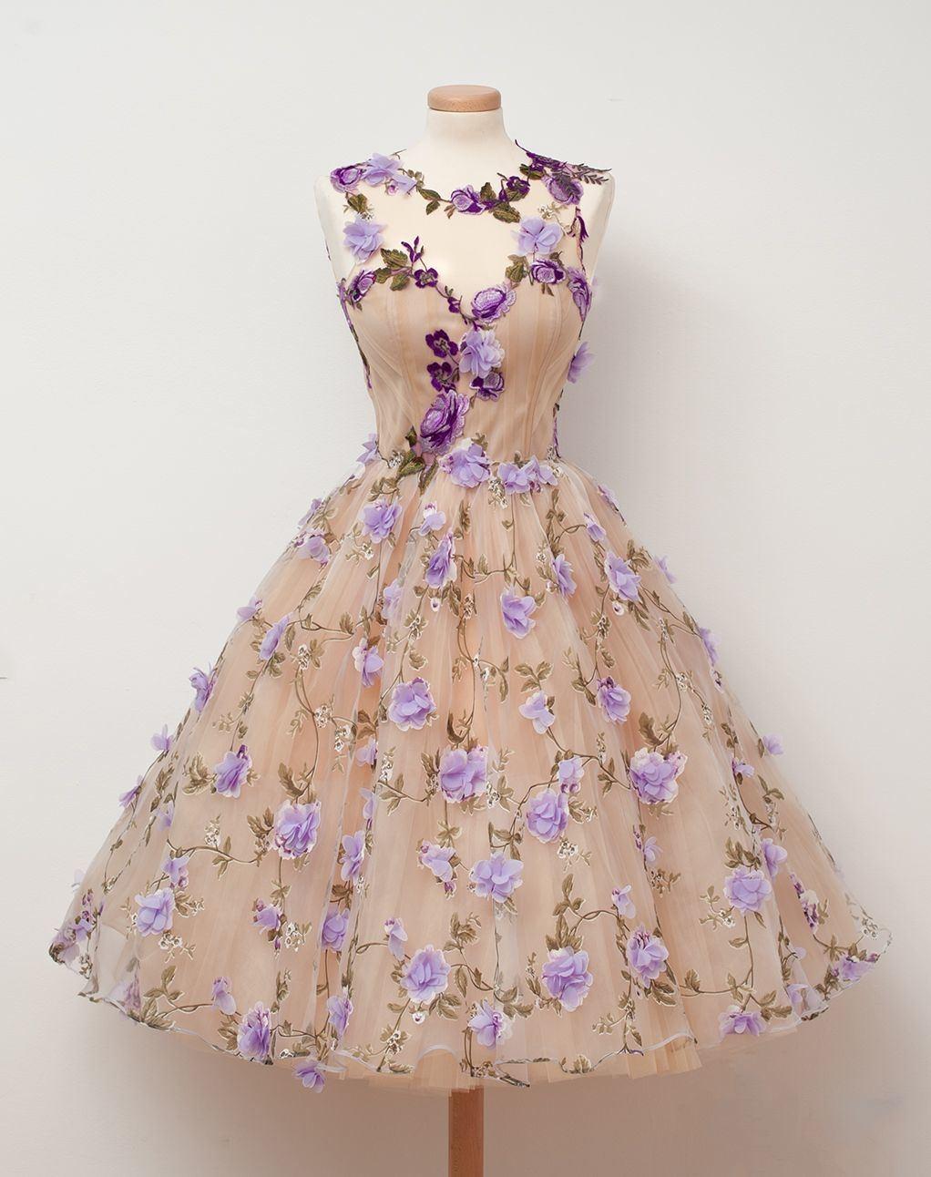 Purple Flower Girl Dresses Designer