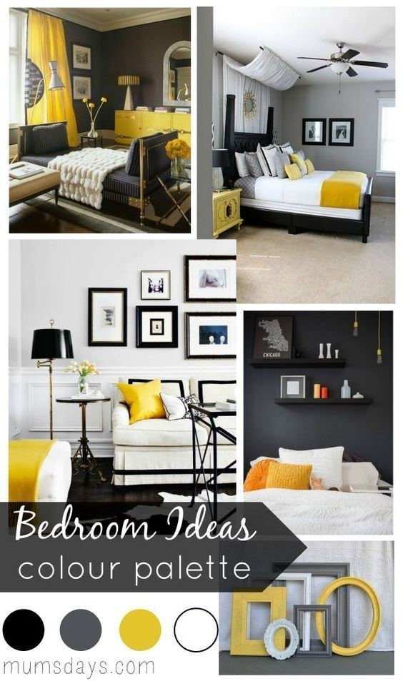 yellow grey black bedroom view in gallery gray and yellow bedroom with  vintage black and white