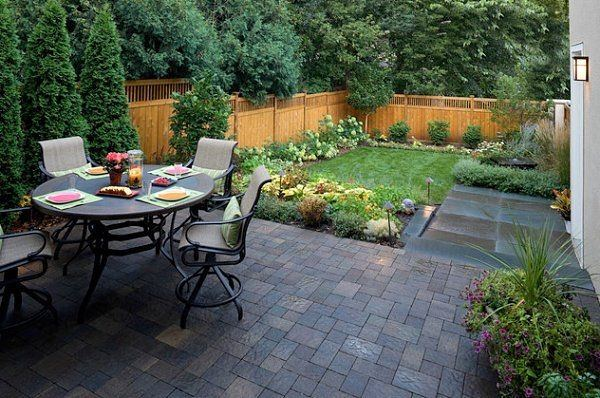 Backyard Patio Ideas for Small Spaces On a Budget : Backyard Patio Ideas On A Budget With Best Landscape | Mother Earth in 2019 | Small backyard design,