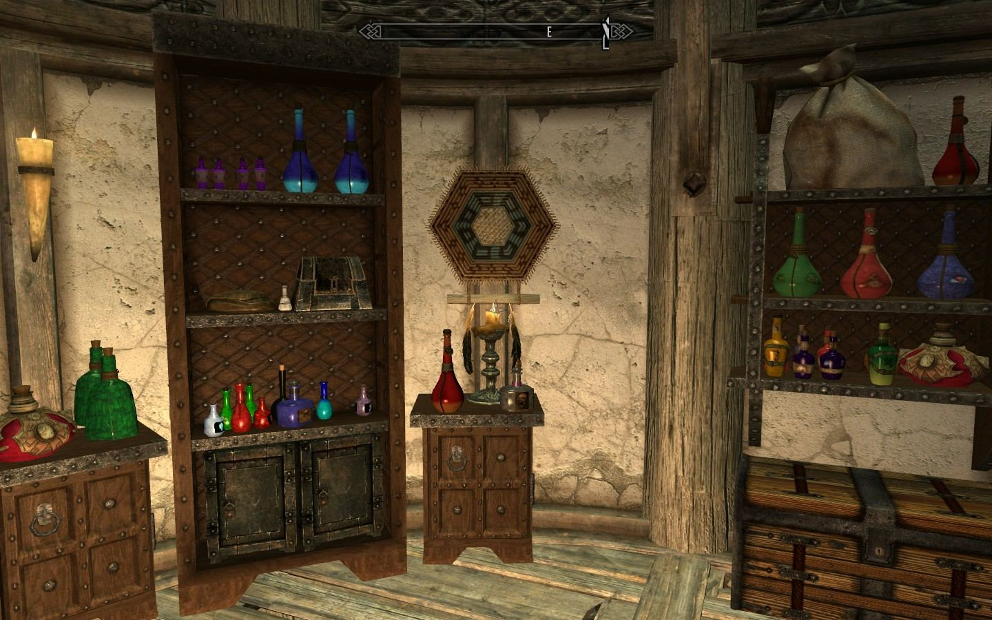 The open rafters and the rustic wood look would be great for a Germanic or  Skyrim themed room