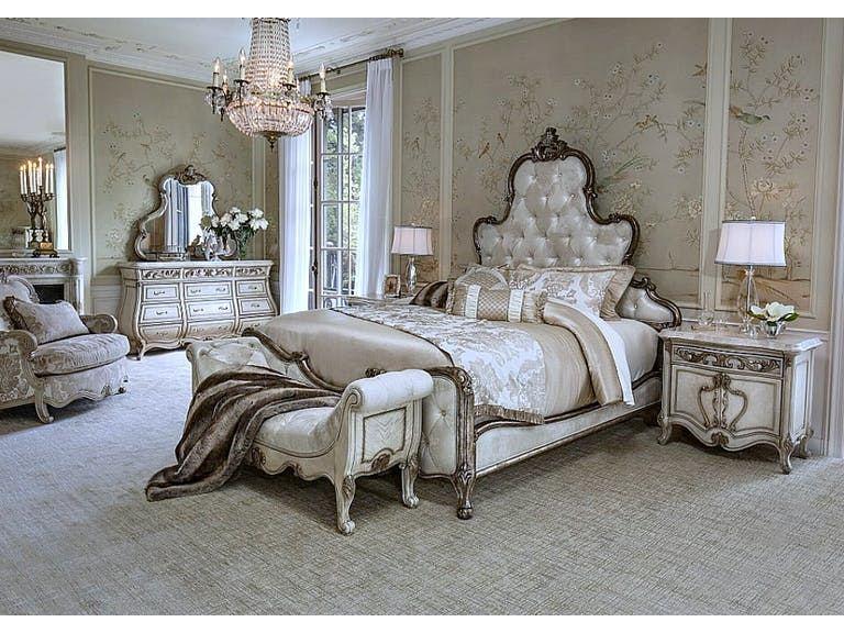 aico furniture bedroom sets 8 piece mantel set