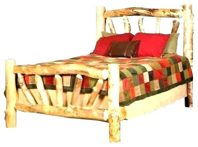 rustic aspen log beds bathroom design ideas furniture colorado