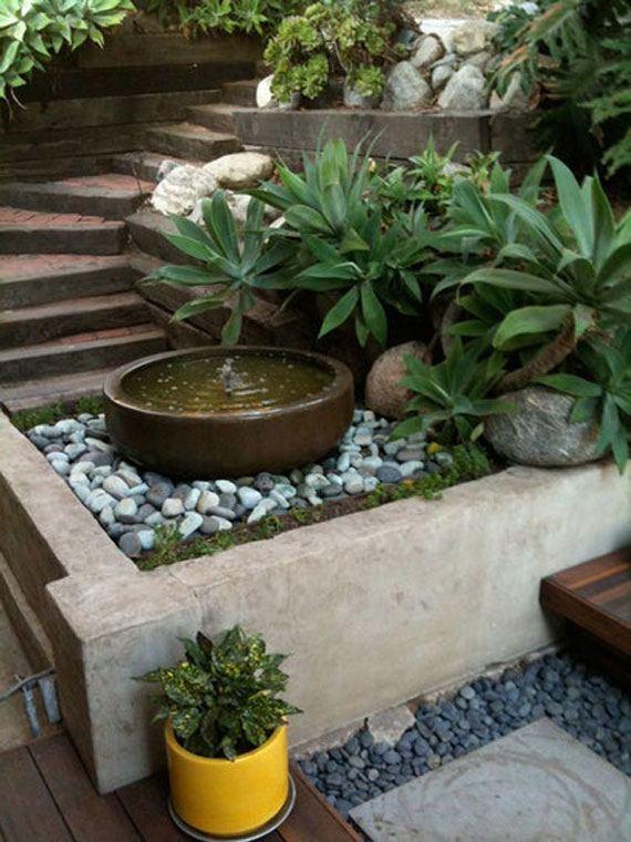 backyard water fountain ideas small outdoor