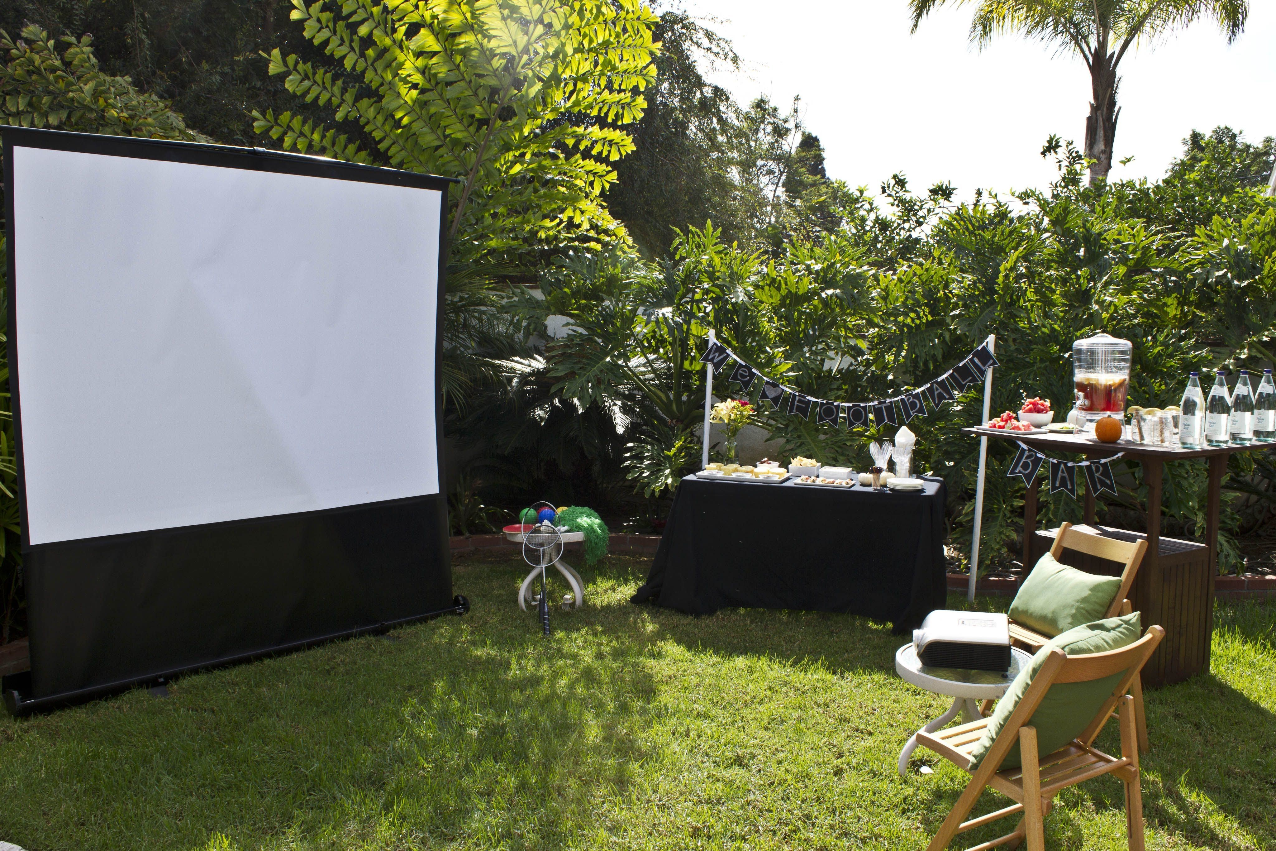 backyard cinema projector