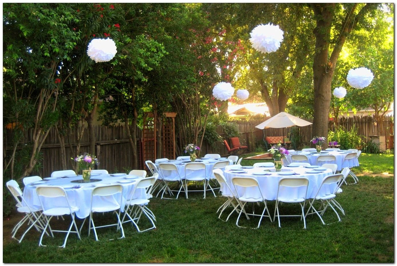 backyard graduation party decorating ideas