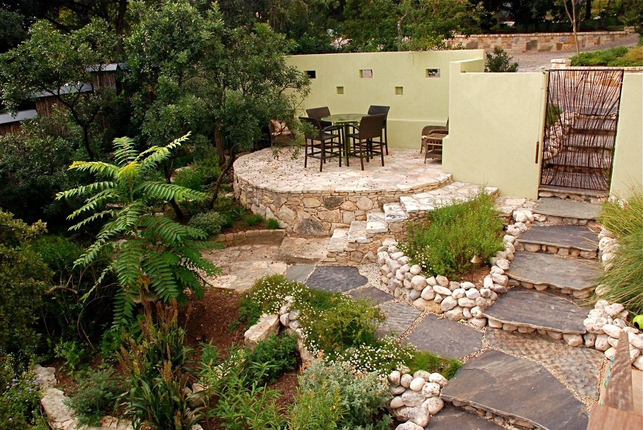 Don't want to pay for all those patio pavers? Not a problem