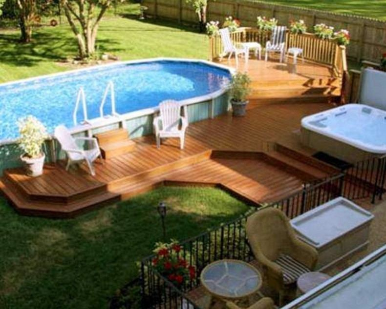 Those some of the Above Ground Pool Ideas for your dreamed swimming pool