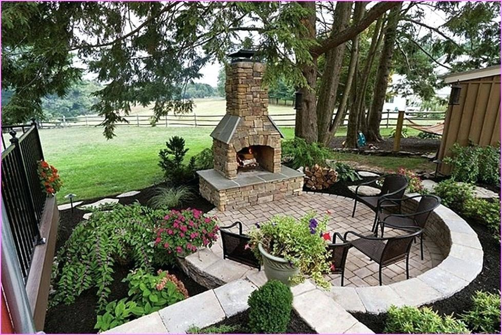 backyard ideas brick stone