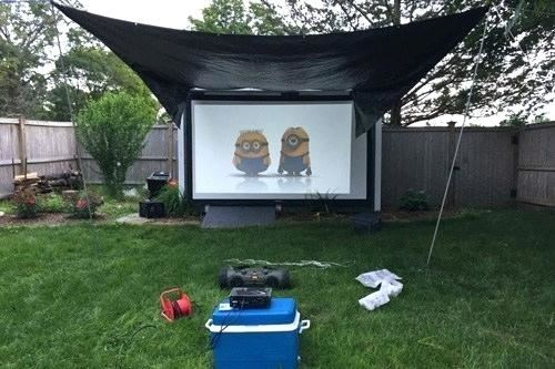 outdoor projector screen 1 outside ideas backyard reviews