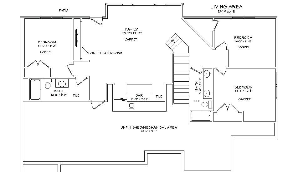 Basement:Simple Two Story House Plans With Basement Artistic Color Decor Excellent With Home Interior