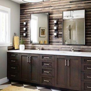 dark wood floor bathroom