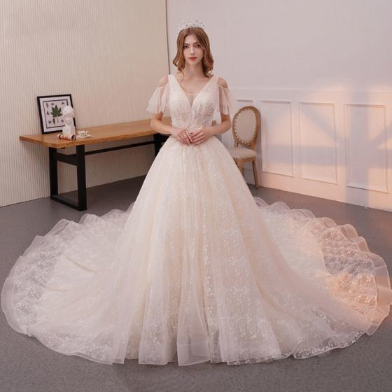 Discount Newest Design Vintage Short Champagne Wedding Dresses Knee Length Jewel Neckline A Line Long Sleeve Chiffon Lace Bridal Gowns Custom W1209 Best