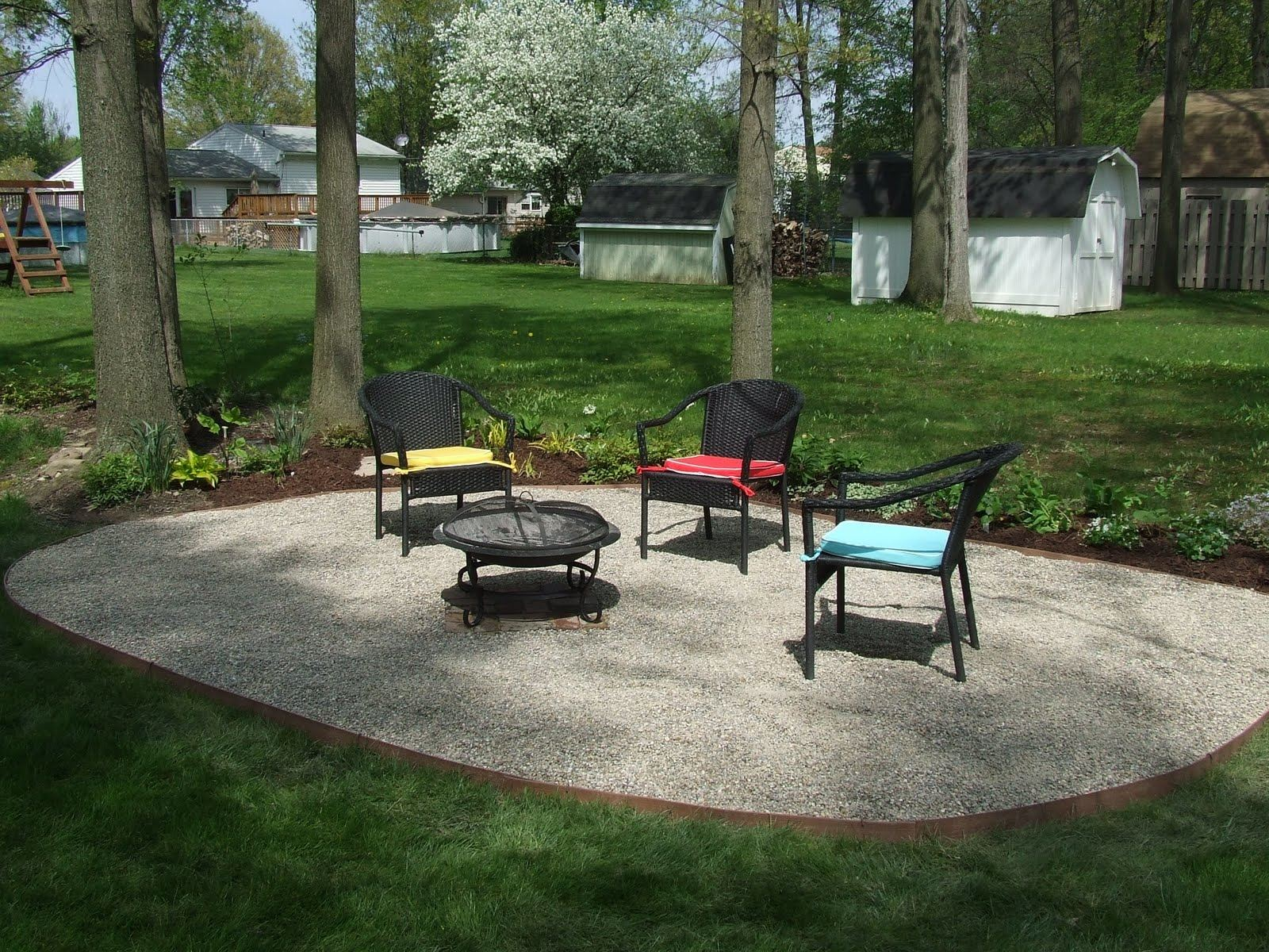 gravel patio ideas pea gravel patio ideas backyard gravel patio ideas gravel backyard my backyard tour