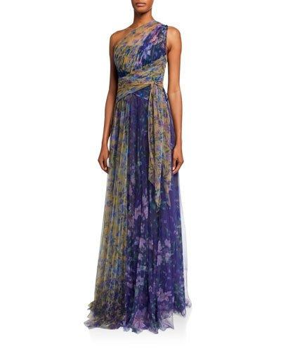 BCBGMAXAZRIA Isadona Pleated Maxi Dress | bloomingdales