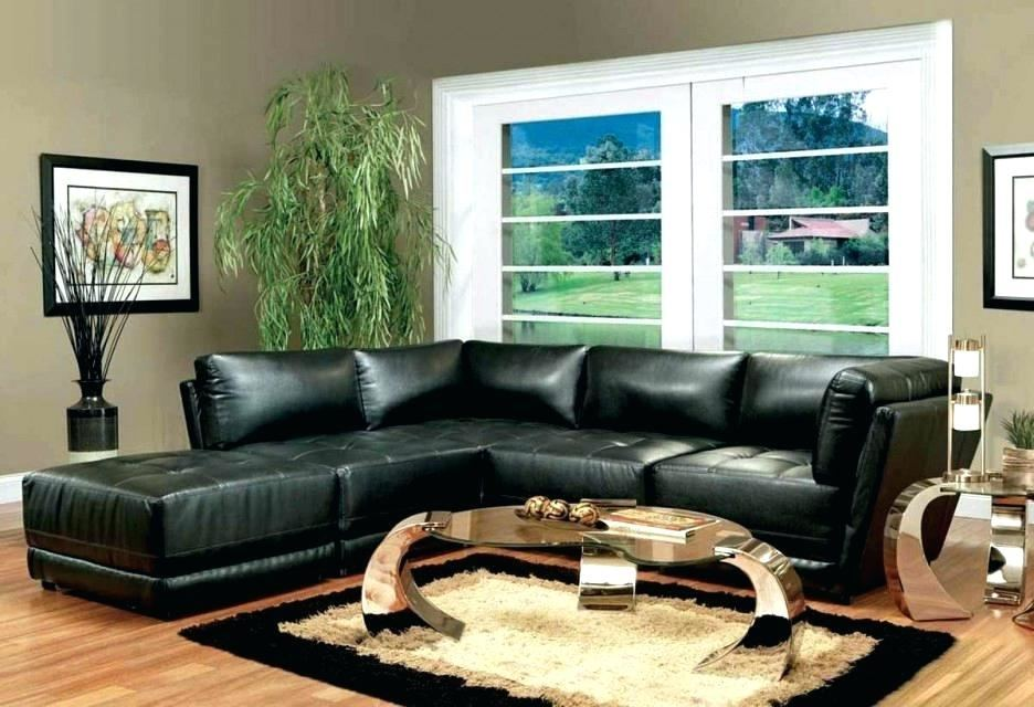 black leather sectional decorating ideas living room