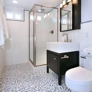 penny floor tile bathroom