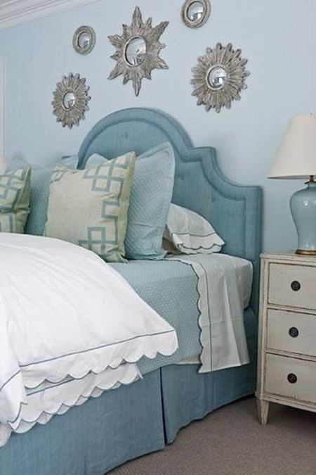 silver blue bedroom