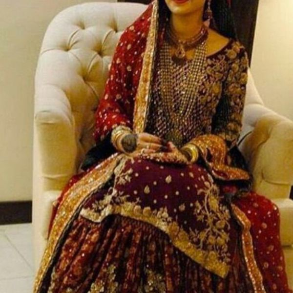bridal dresses can be seen as a splash of vibrant colors paired with  traditional embroidery work and delicate pearls for a unique look for his  brides