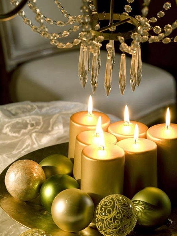 The ornamental Christmas candle