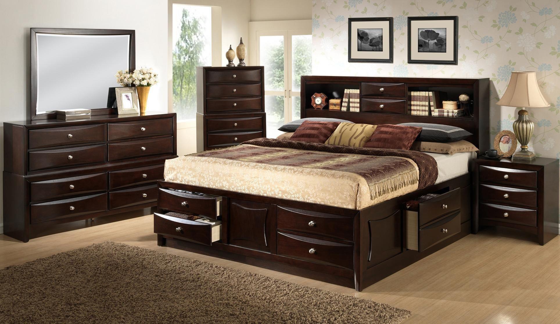 King Bedroom Sets Espresso Home Decor Inspirations Dark Wood Furniture