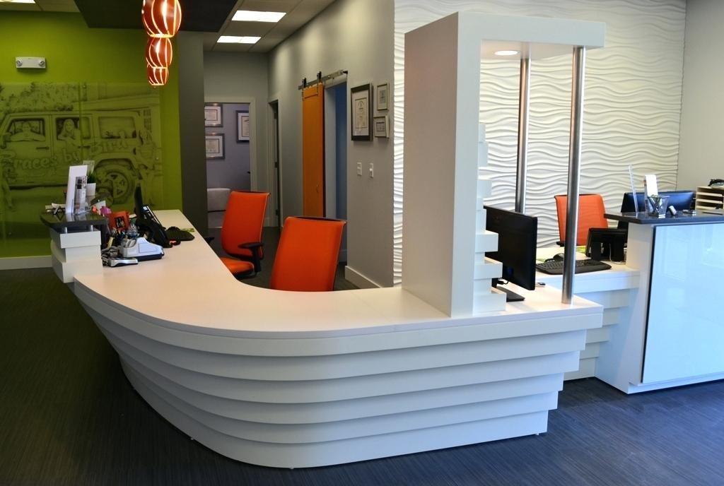 reception desk lighting ideas