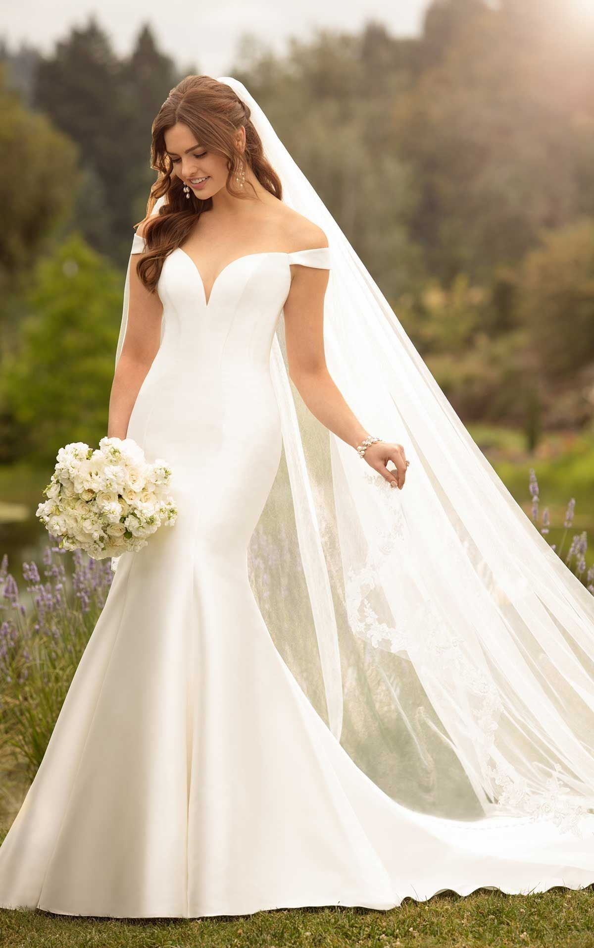 Off Shoulder Wedding gown