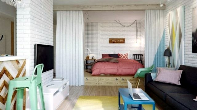 The Chic Technique: Studio or small apartment ideas for combining a living and bedroom space