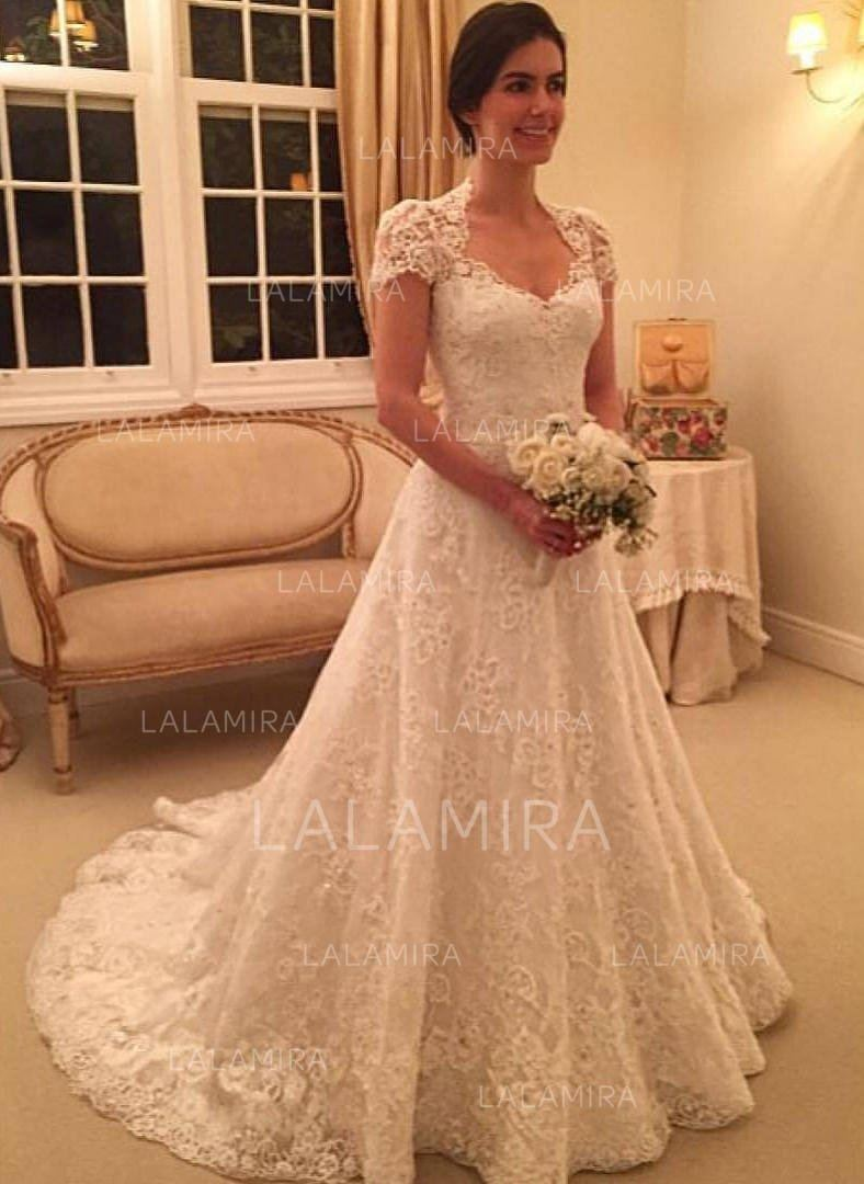Starting your wedding dress search? Book an appointment via the link in our  profile! Dress ID | 144814 #lalamira #weddingdresses #cheapweddingdresses
