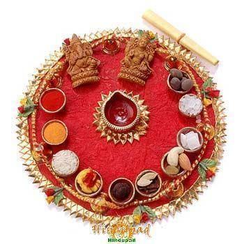 Latest Navratri Aarati (Pooja) Thali Decoration Ideas
