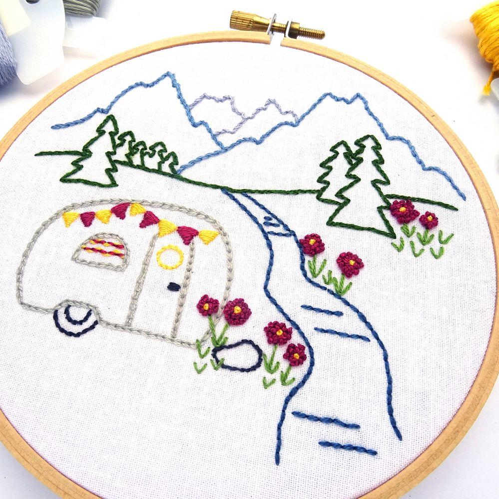 Canvas, hoop, thread mouline