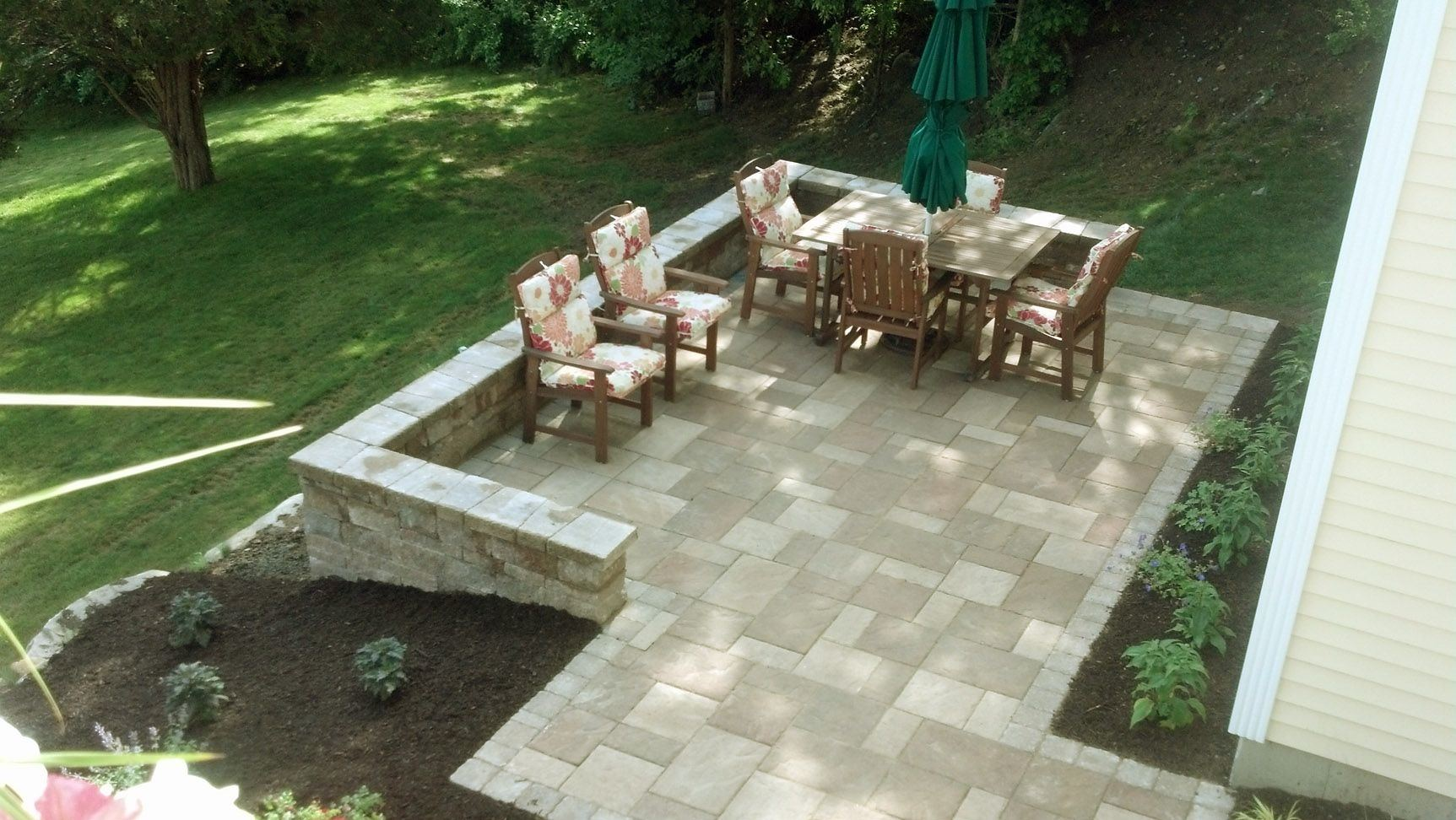 landscaping ideas for sloped yard backyard small deck