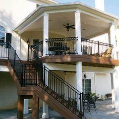 second floor deck design second story