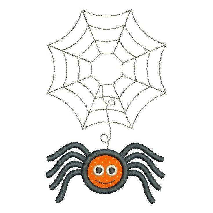 My 2nd Halloween pumpkin applique machine embroidery design by rosiedayembroidery