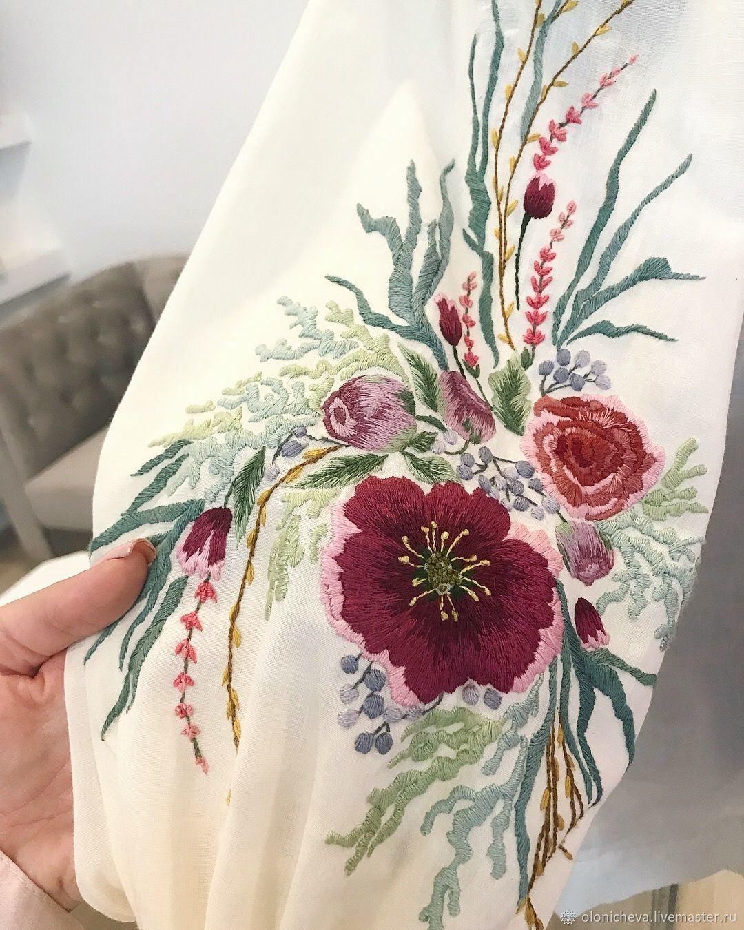 Beautiful boat neck designer blouse with hand embroidery thread and kundan work from Swathi Veldandi