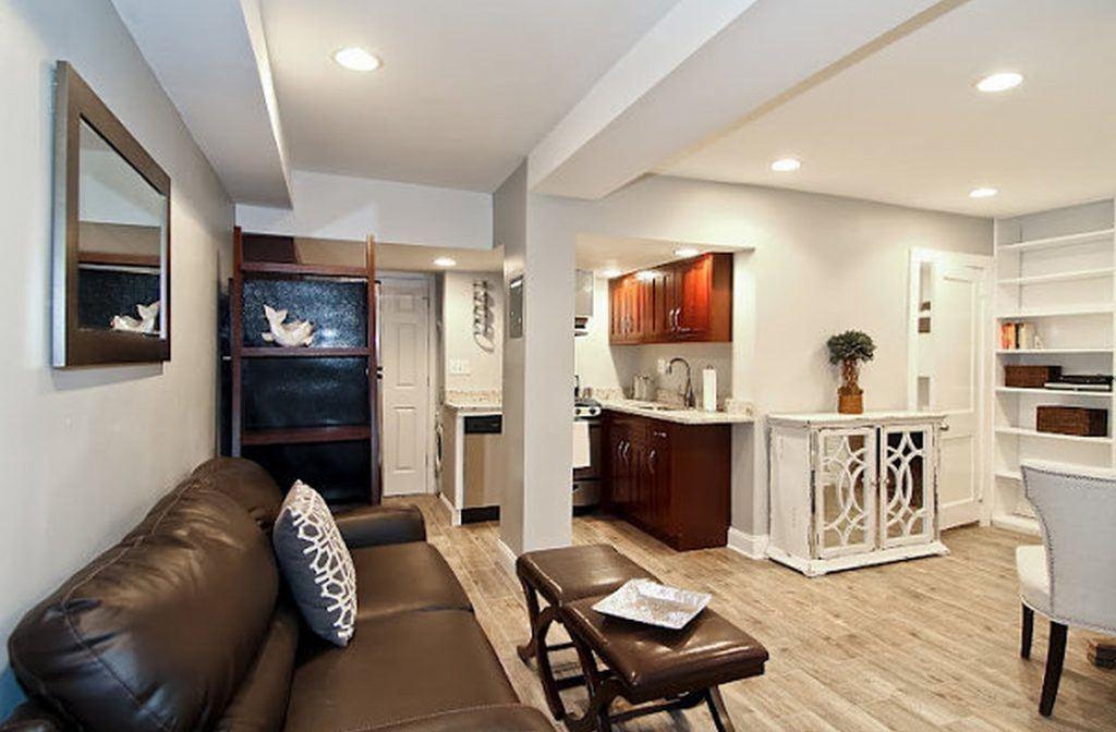 small basement apartment design tiny basement apartment ideas