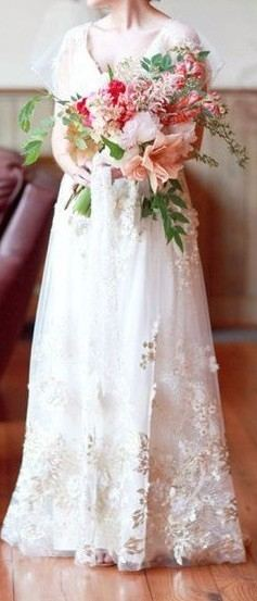 Claire Pettibone Ivory Tulle Madame Butterfly Modern Wedding Dress Size 18  (XL, Plus 0x
