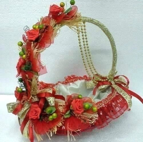 decorative  basket gift and trousseau packing concepts decoration ideas for wedding